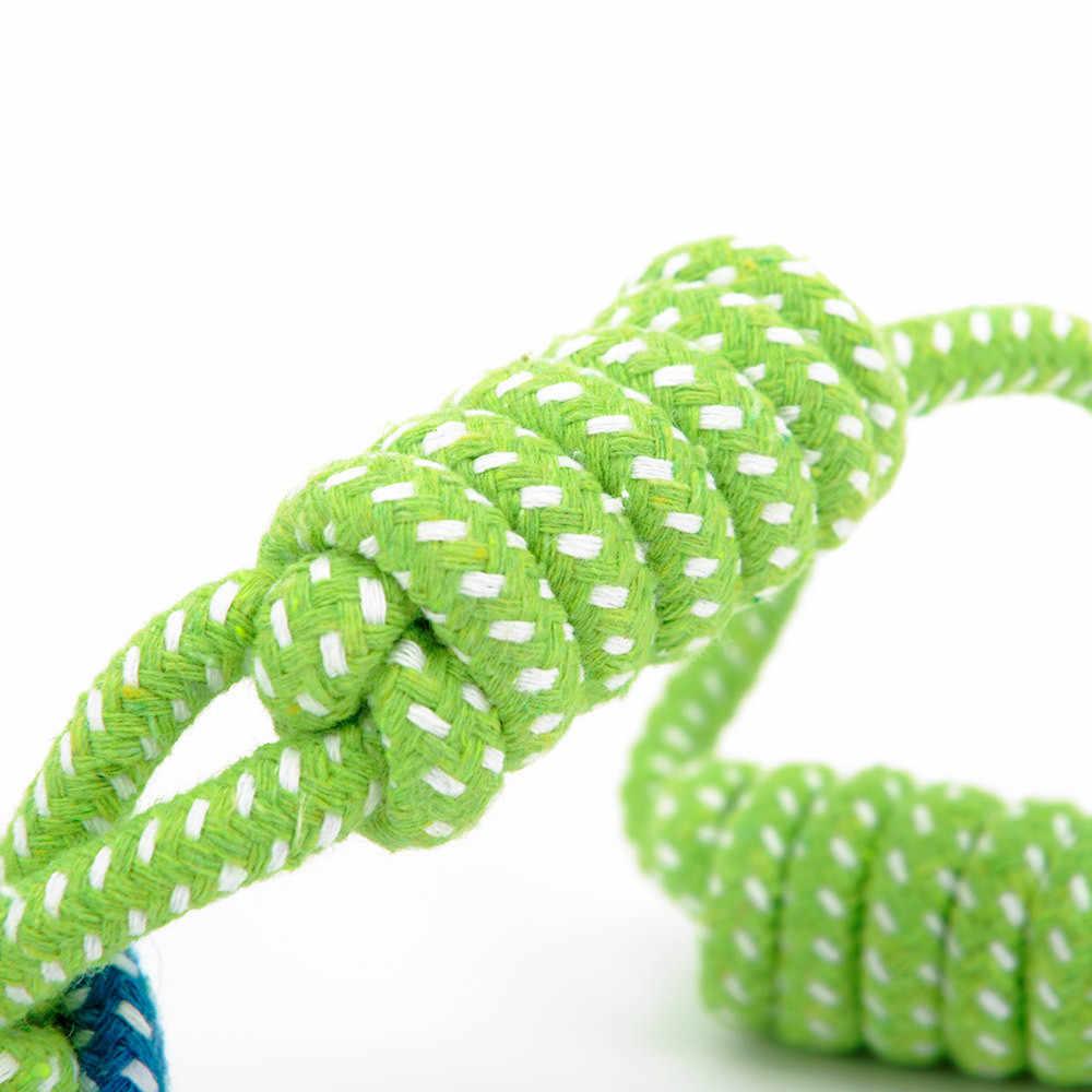 Игрушка для домашних собак забавные жевать игрушки 2019 Новое поступление Игрушка веревка (зуботочка для собаки) хлопковая веревка с узлами шаровое шлифование для зубов Pet игрушечная веревка