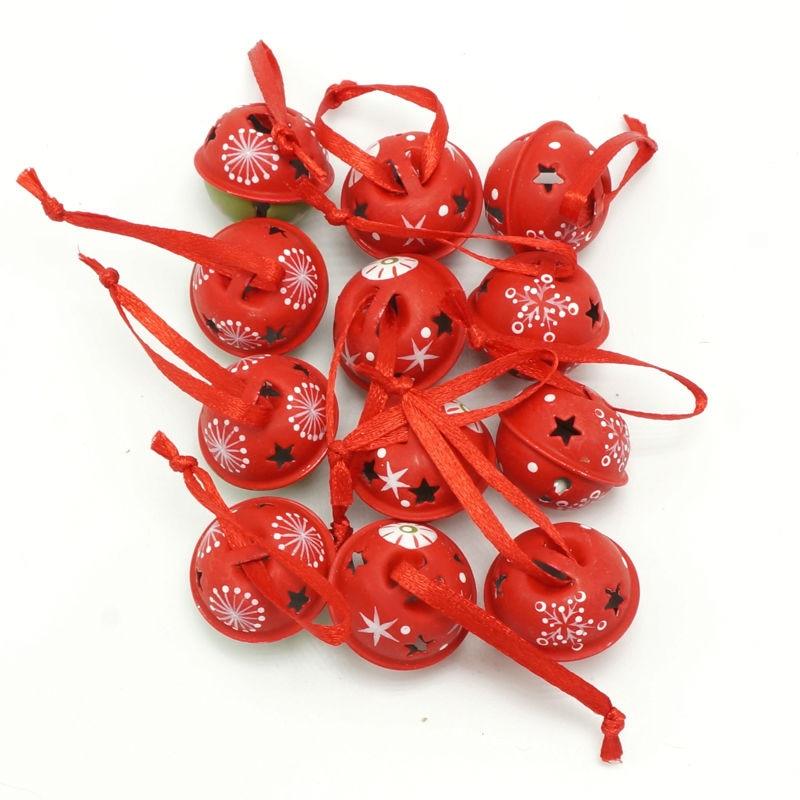 Noel öğeleri 3 türleri 12 adet karikatür metal küçük Bells - Tatiller ve Partiler Için - Fotoğraf 6