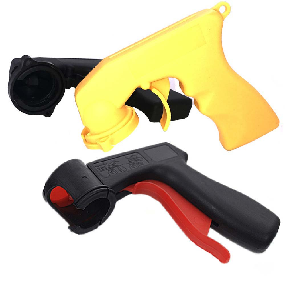Spray gun handle Spray Adaptor Paint Care Aerosol Spray Gun Handle with Full Grip Trigger Locking Collar Car Maintenance
