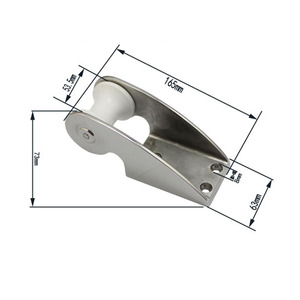 Image 2 - HCSSZP 1 Pcs 316 Stainless Steel Boat Anchor Bow Roller  Marine Boat Accessories Fast Delivery