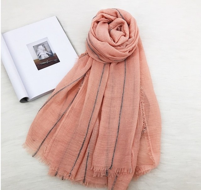 a697a199c 2018 Fashion Cotton Linen Plain Color Fringe Scarves Shawls Oversize Good  Quality Scarf Hijab Muffler Wrap 9 Color Free Shipping