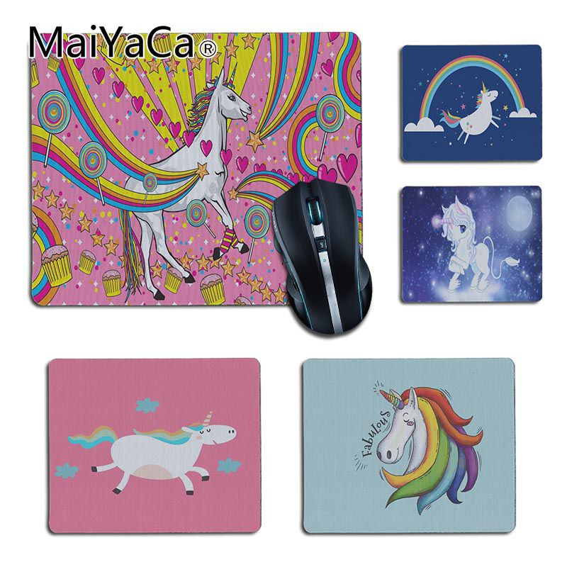 MaiYaCa Vintage Cool colorful sweet unicorn Silicone Pad to Mouse Game 2018 Hot Professional Gamer Mouse pad