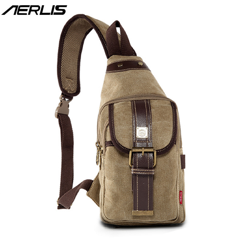 AERLIS Handbag Men Canvas Leather Messenger Casual Crossbody Bag Satchel Vintage Small Sling Shoulder Bags Travel Quality 332 uiyi original design men handbag pu leather satchel messenger crossbody bag small casual business shoulder sling bags 160108