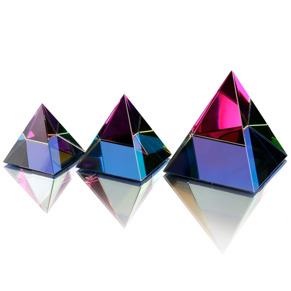 3 Größen Ägypten Ägyptischen Kristall Glas Pyramide Feng Shui ...