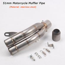 Motorcycle Exhaust Muffler Pipe Silp on for 51mm Stainless Steel Silencer System With DB Killer
