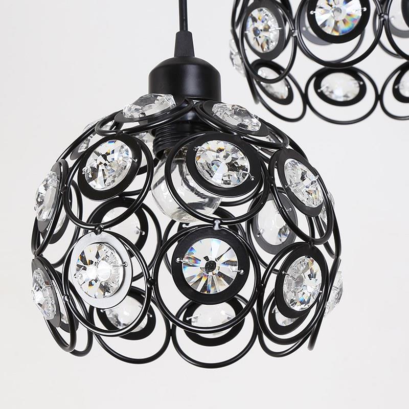 Hanglampen Industrial Lampara De Techo Colgante Moderna Crystal Hanging Lamp Loft Luminaria Suspension Luminaire Pendant Light in Pendant Lights from Lights Lighting