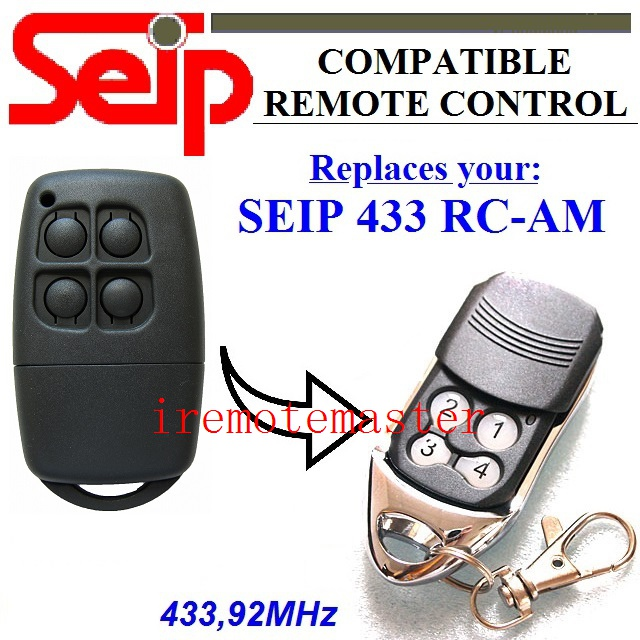 SEIP 433 RC-AM replacement remote control 433,92mhz free shipping seip skrj433 replacement remote control rolling code 433 92mhz dhl free shipping