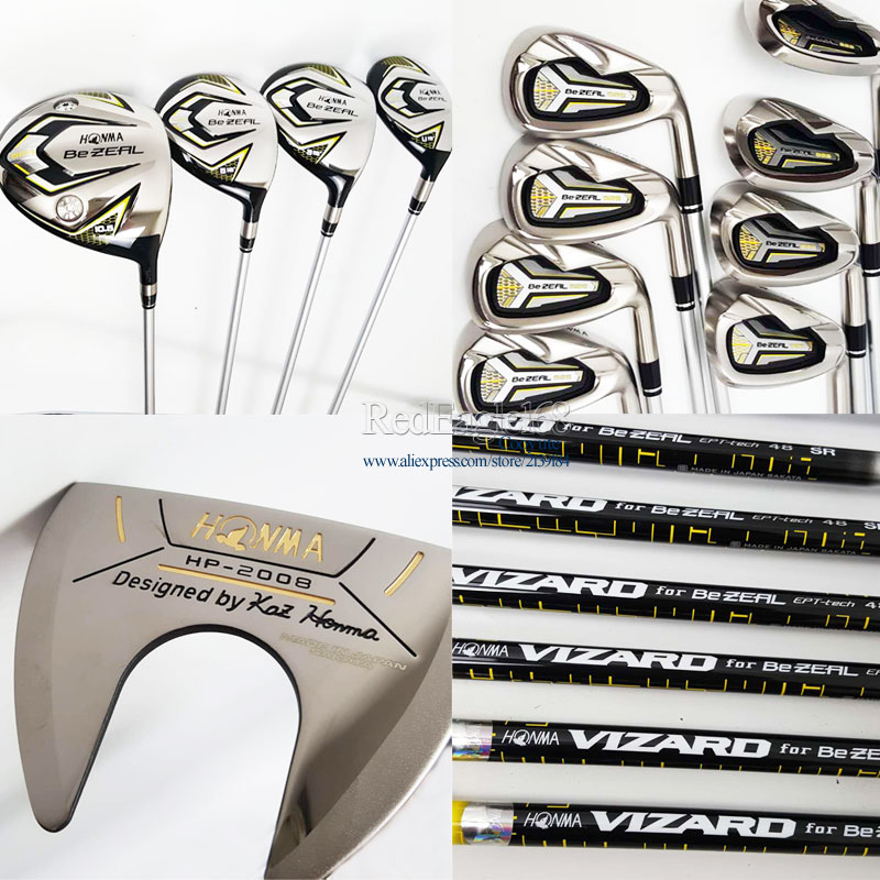 Cooyute New Golf Clubs HONMA BEZEAL 525 Compelete set Golf driver+wood+HONMA irons Clubs Graphite shaft R or S free shipping new mens cooyute golf clubs honma s 05 4star golf wood complete set driver with fairway woods graphite golf shaft free shipping