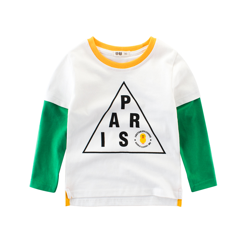 Clothing T-Shirts Tops Toddler Girl Autumn Baby Boys Cotton Children's White Tees 1-8-Years