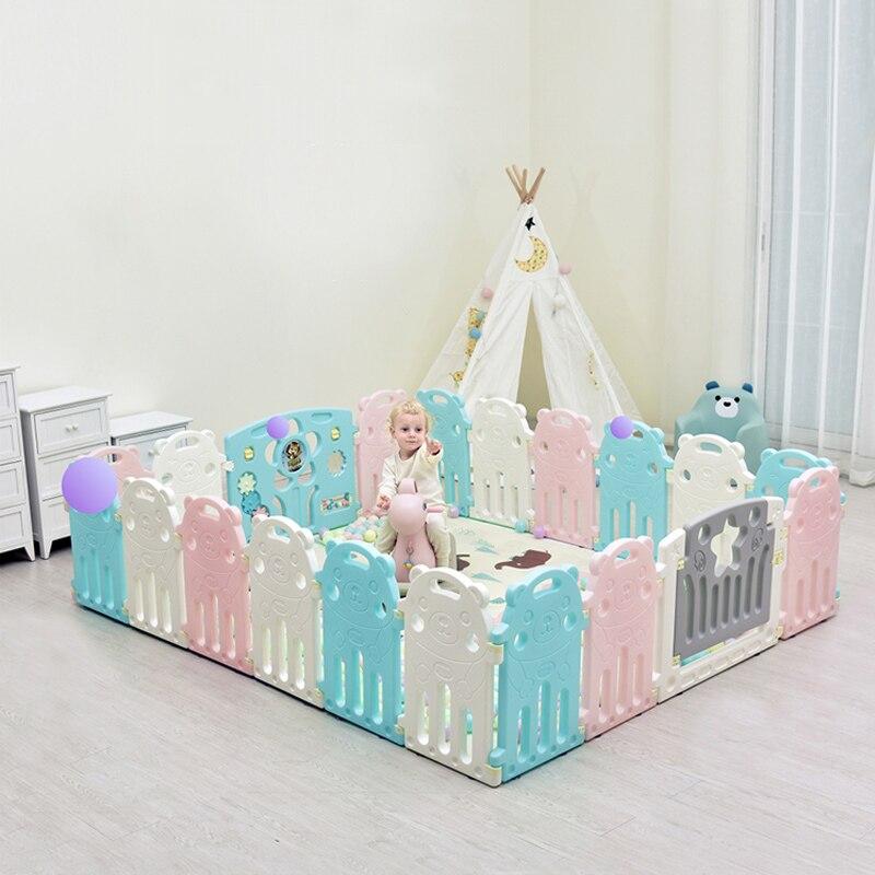 Parc pour bébé clôtures pour enfants équipement d'activité pour enfants barrière de Protection de l'environnement jeu de sécurité clôture de jeu éducatif cour