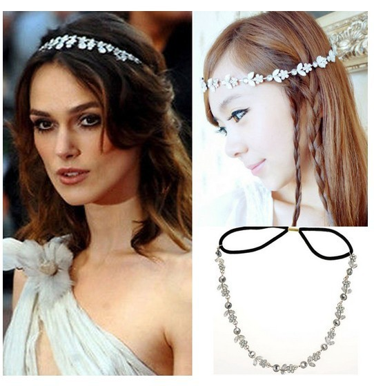 Women Lady Headband Hair Band Silver Metal Flower Rhinestone Korean Style  Hair Jewelry For Party Wedding 049e1854612