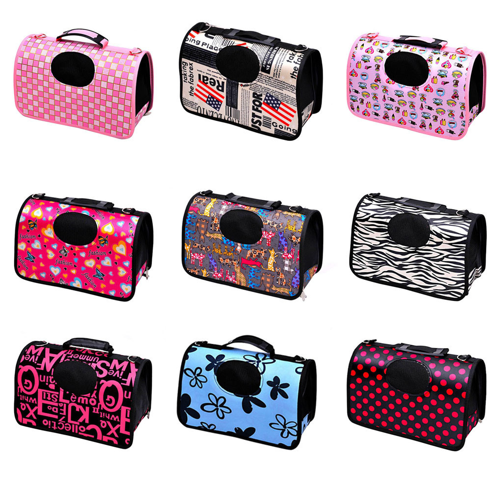 New Candy Color Cute Dog Cat Soft Portable Tote Carrier House Kennel Pet Travel Bag Outdoor Shopping and Walkingdrop shipping