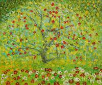 The Apple Tree Gustav Klimt Landscape Paintings Living Room Decor Handmde High Quality
