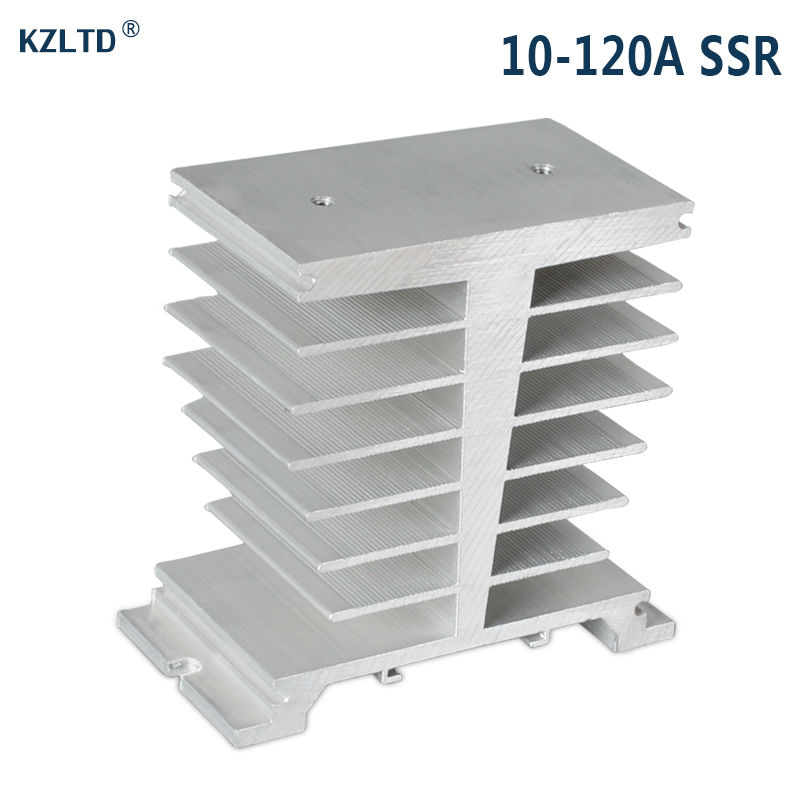 Aluminum Heat Sink for Solid State Relay SSR 100A 120A Heat Dissipation Single Phase SSR Heatsink SR-E 1pc single phase solid state relay ssr heat sink aluminum dissipation radiator l059 new hot