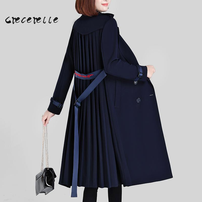 Large Size Women  Autumn And Winter 2018 New Cover Belly Thin Coat Plump Loose Coat Women Plus Size Suit Vestidos Mujer  Q196