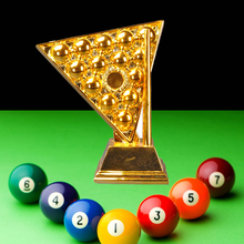 New Snooker Trophy Originality Resin Trophy Gold And Silver Copper Crystal Trophy Customized Excellent Award Trophies Souvenir tortuous star shaped metal trophy customized logo or words to crystal base video music awards grammy trophy for award ceremony