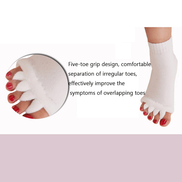 iMucci  Fitness Massage Separator Five Toe Socks Sleeping Fingers Healthy Feet Care Socks Soft Pain Relief Socks 1