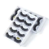 3D mink Eyelash & individual eyelashes the cost print private logo your own logo for eye lashes