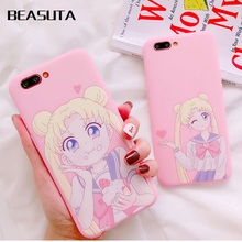 Cute Japan Cartoon New Instagram popular anime Sailor Moon Soft case for iphone 6 6S 7 7plus 8 XR lovely cover X