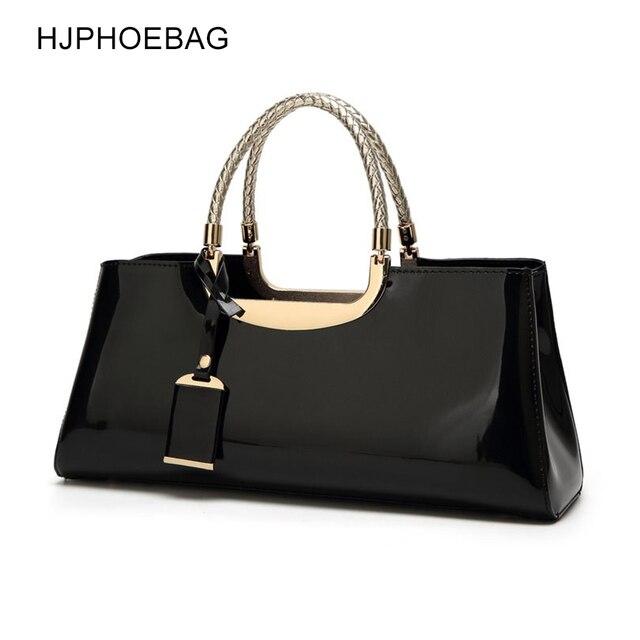 HJPHOEBAGแฟชั่นกระเป๋าจัดเลี้ยงพลาสติกสิทธิบัตรหนังกระเป๋าถือไหล่ผู้หญิงของขวัญงานแต่งงานBolsas Mujer YC186