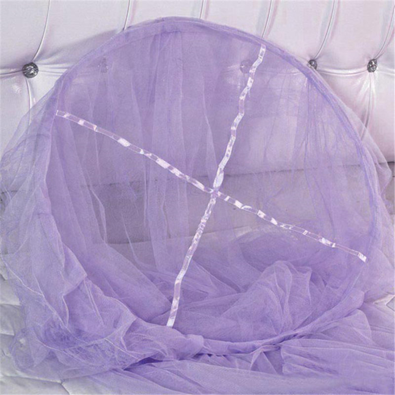 Top Quality Elegant Lace Hanging Bedding Hung Dome Mosquito Net For Summer Polyester Mesh Fabric Home Textile