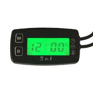 TEMP METER thermometer voltmeter clock temperature SENSOR voltage meter for pit bike motorcycle snowmobile atv boat engine