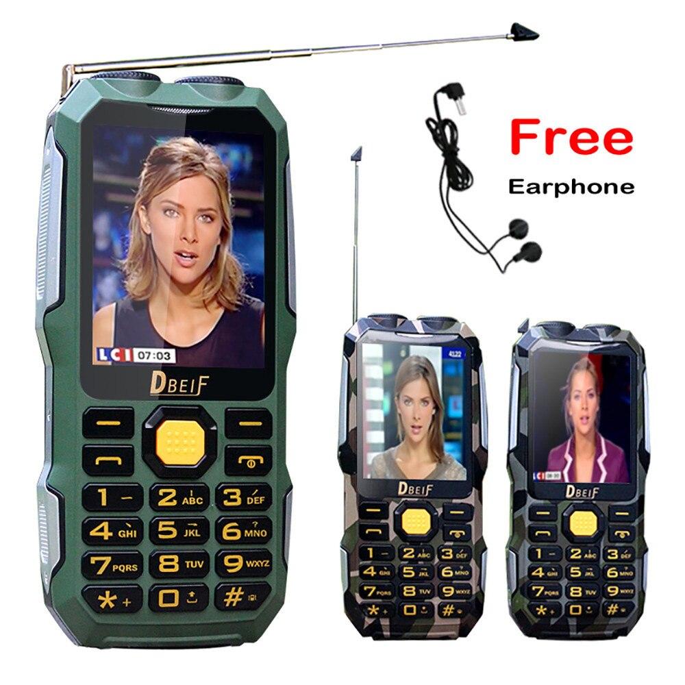 Волшебный голос двойной фонарик FM открытый противоударный Mp3/Mp4 Мощность банк антенна для аналогового ТВ прочный мобильный телефон для пожи...