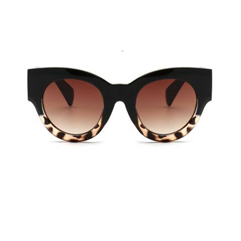 728ed9691dd Thick Frame Cat Eye Sunglasses Ladies Sunglasses 2018 Luxury Vintage Black  Leopard Sun Glasses Female Circle Glasses Big Frame