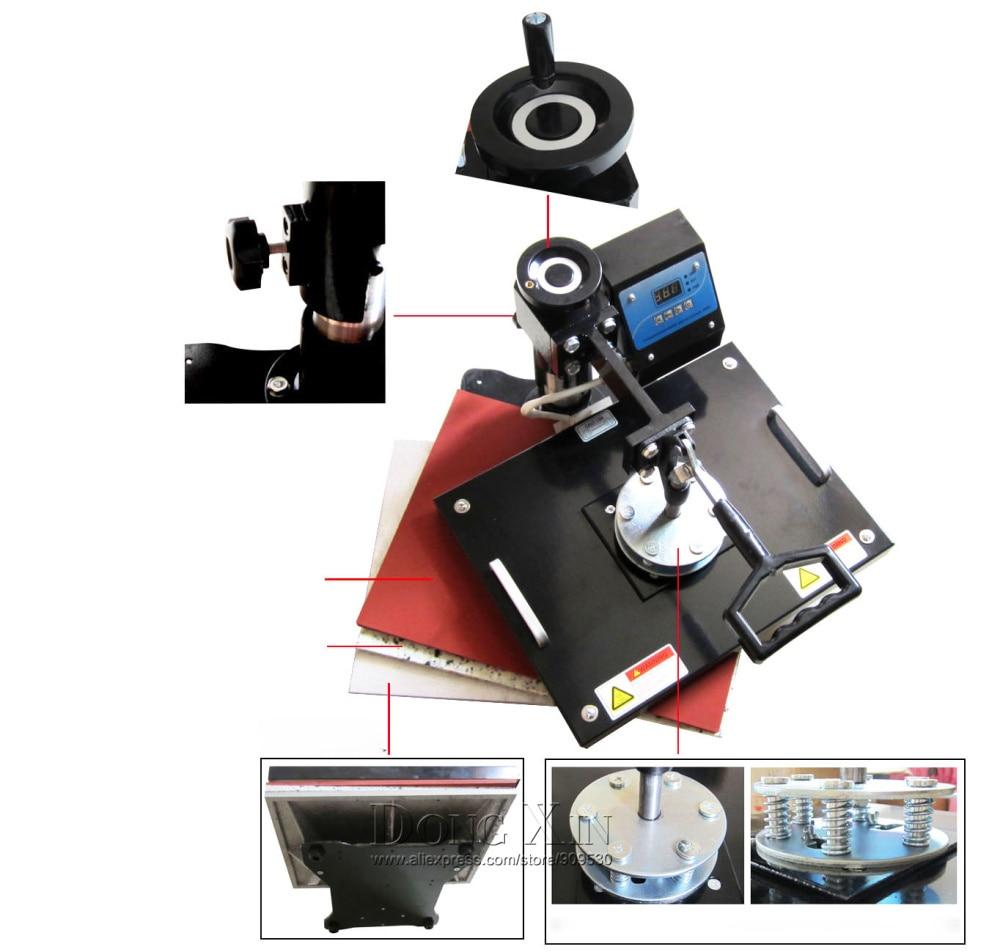 tazas tapas camiseta combo máquina de prensa de calor 8 en 1 - Equipos de soldadura - foto 3