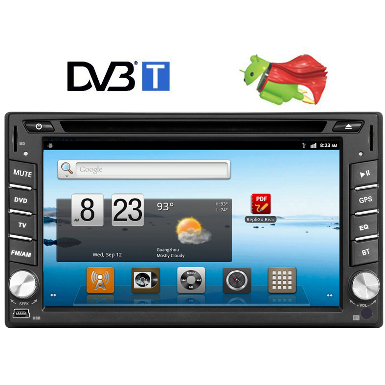 6 2 in dash 2 din android 4 0 car cd dvd player stereo gps. Black Bedroom Furniture Sets. Home Design Ideas