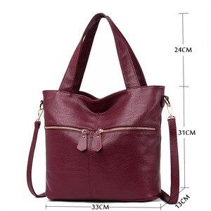 Image 2 - Womens handbags fashion Messenger bag luxury ladies bag designer high quality leather shoulder bag 2019 durable solid color