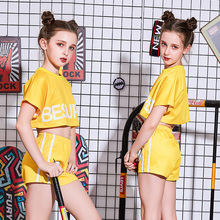 New childrens jazz dance costume girls hip hop street suit clothes performance clothing catwalk