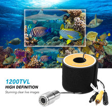 1200TVL Underwater Fishing Camera 12 LEDs Night Vision Waterproof Fish Shape Boat Ice Fishing Camera with 15m/30m/50m Cable(China)