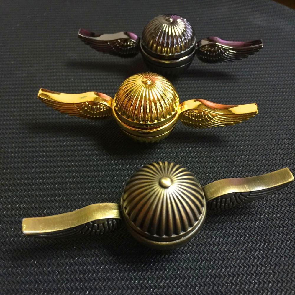 Fidget Spinner Harry  Snitch Hand Spinners Rainbow Metal Hame Copper Cupid Angel Wing Decompression Toy Finger Gyro