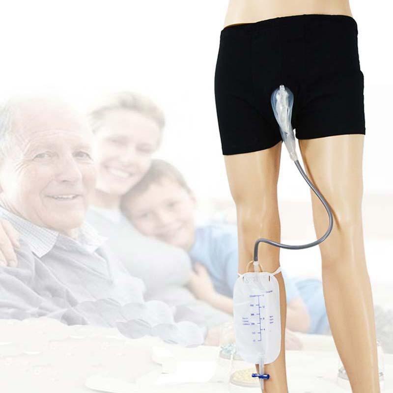 Incontinenza urinaria Orinatoio il Numero di Adulti Sacchetto di Urina Uomini Anziani A Piedi I Pazienti Minzione Catetere CCP011