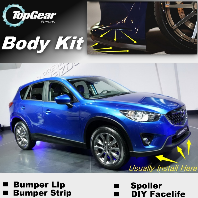 For <font><b>Mazda</b></font> <font><b>CX5</b></font> CX-5 CX 5 2013 2014 2015 Bumper Lip / Front Spoiler Deflector For TOPGEAR Fans Car Tuning / <font><b>Body</b></font> <font><b>Kit</b></font> / Strip Skirt image