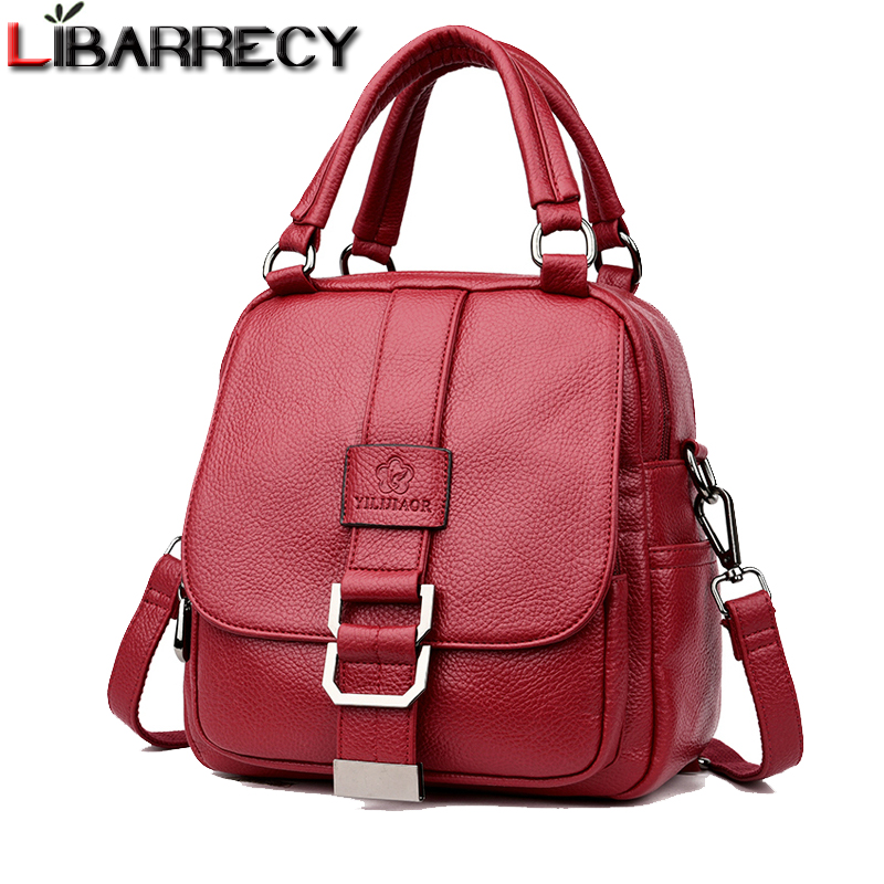 Fashion Simple Designer Backpacks Woman 2018 Soft Leather School Bags For Teenager Girls Casual Female Small Backpacks Mochila