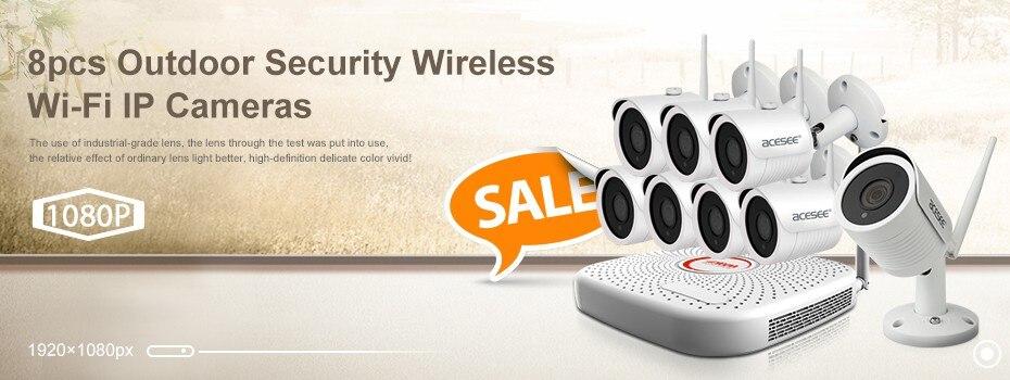 8CH white wifi nvr kits