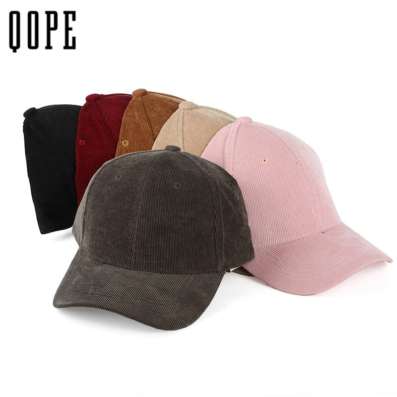 Fashion solid Corduroy Baseball cap snapback hat for men women hip hop cap Casual Unisex bone Casquette hat adjustable dad hat xthree faux leather baseball cap embroidery deer snapback hat hip hop casquette bone men hats for women