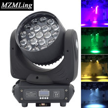 19x15w Led RGBW Wash/Zoom Light DMX512 Moving Head Light Professional DJ /Bar /Party /Show /Stage Light LED Stage Machine