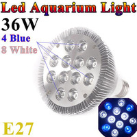 10pcs/lot AC85-265V E27 par38 aquarium led lighting fish tank coral reef grow led aquarium light 460nm blue white grow lamp