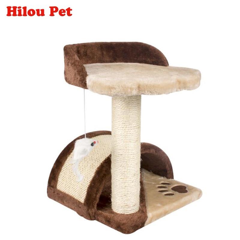 Natural Sisal Kat Klimmen Speelgoed Krabpaal Klimmen Types Kort - Producten voor huisdieren