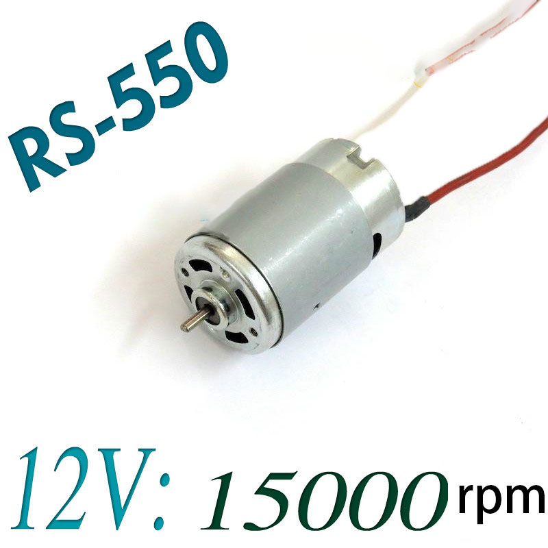 RS-550 Electric Tool DC Motor 12V 15000RPM For Bosch Makita Dewalt Hitachi Cordless Drill Screwdriver Accessories Spare Parts image