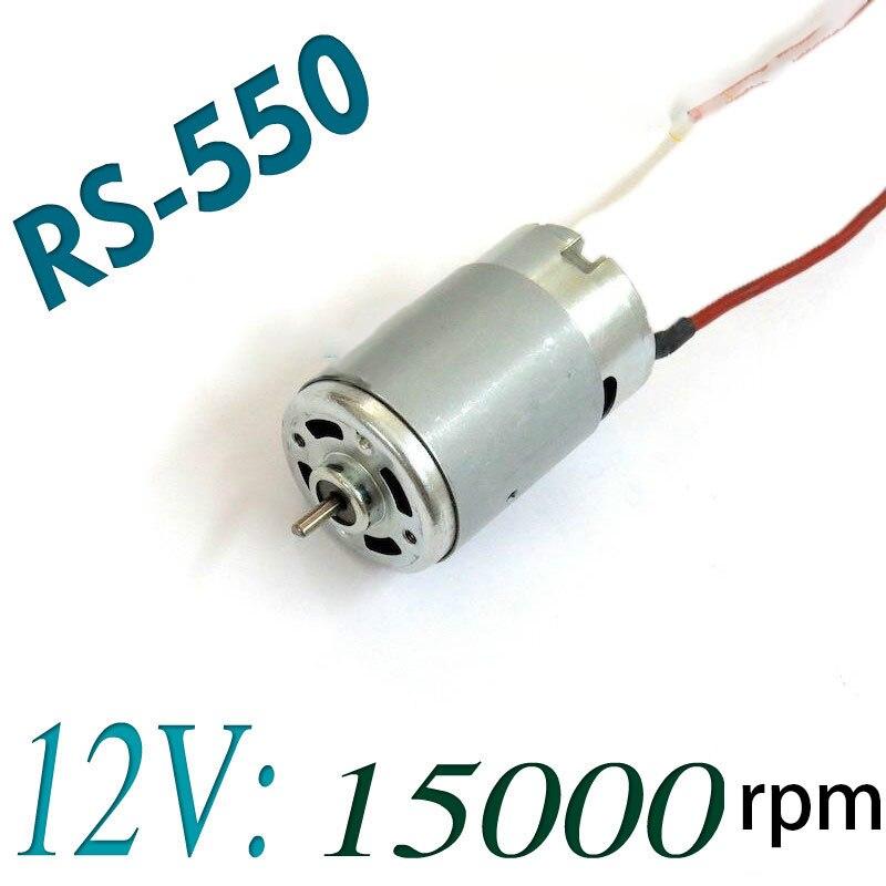 RS-550 Herramienta Eléctrica Motor de la CC 12 V 15000 RPM Para Bosch Dewalt Makita Hitachi Taladro y Destornillador Accesorios Repuestos