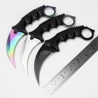 Cs Go Knife Handmade Hunting Karambit Multicolour Knife CS GO Never Fade Counter Strike Fighting Survival