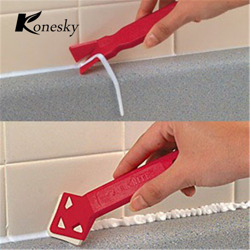 Silicone Scraper Caulking Grouting Tool Sealant Finishing Cleaning Kit Kitchen Window Tile Corner Dirt Cleaner Scrapers Set Fast Color Squeegees Back To Search Resultshome & Garden