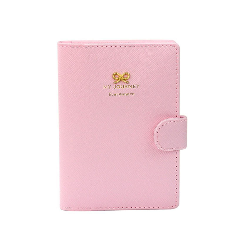 Popular Fashion Passport Holder Women Sweet Bowknot Crown Buckles Protect Cover Passport Case Organizer Pasaporte Caso sale #W
