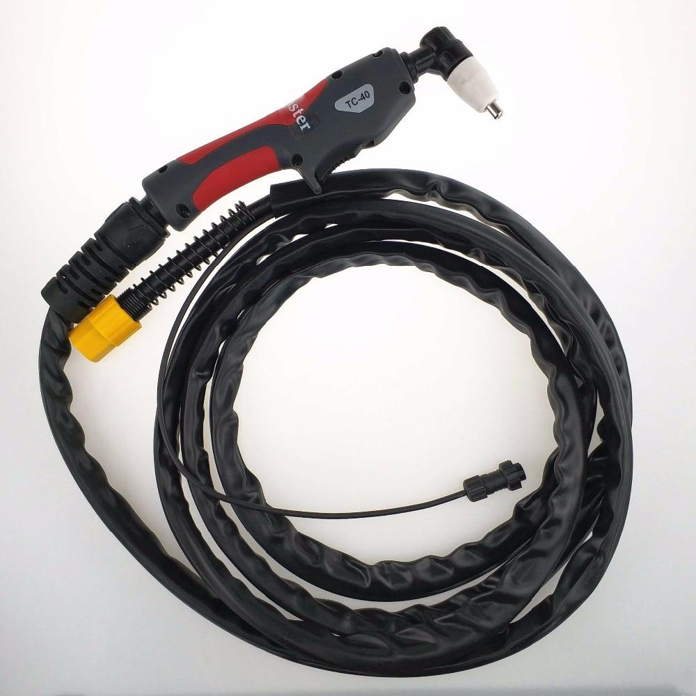 PT31 Torch 40A Inverter Plasma Cutter Gun Plasma Cutting Torch 4 Meters Length Heavy Duty For Air Cooled Plasma Cutting Machine