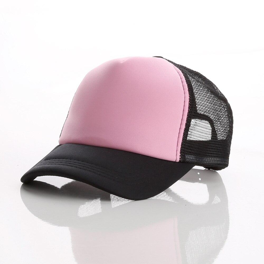 LJ104 di Estate Degli Uomini Delle Donne di Sun Visiera del Berretto Da Baseball Del Cappello di Colore Solido di Modo Protezioni Registrabili - 5