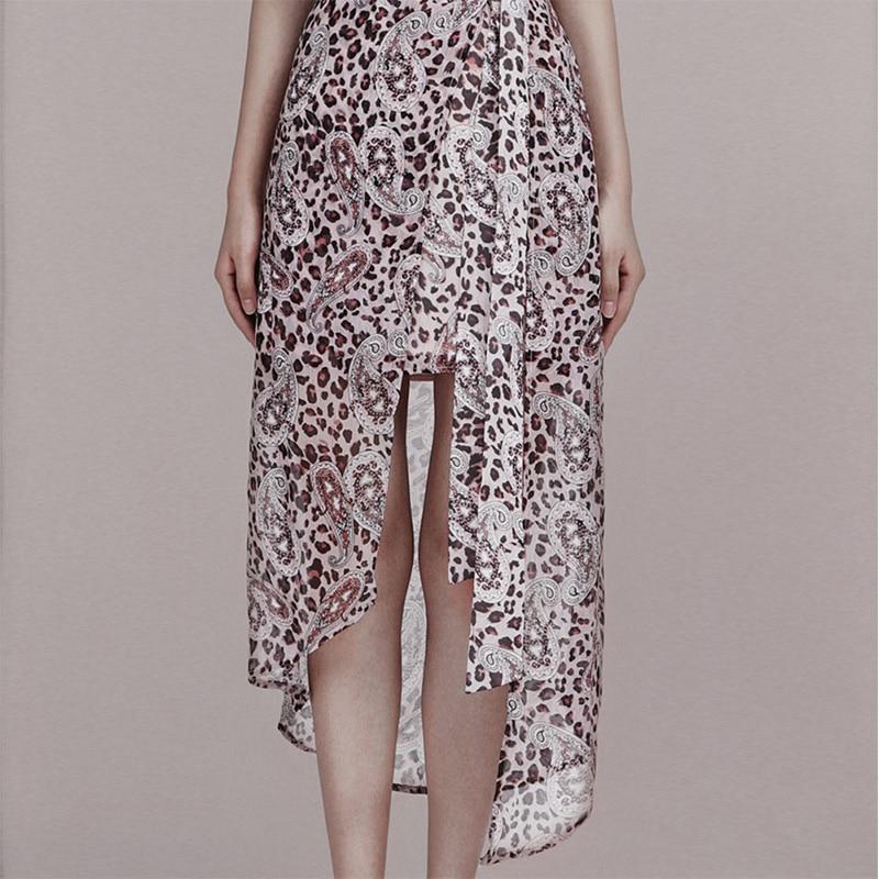 INDRESSME 2019 New Fashion Style Elegant Women Dress Sleeveless Leopard Print Irregular Hem Dress in Dresses from Women 39 s Clothing